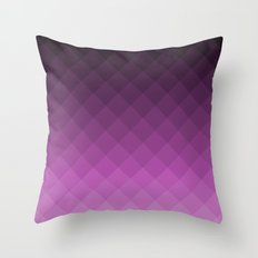 Ombre Squares - Purple Throw Pillow
