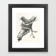 Framed Art Print featuring Nesting Bird by Osceola Pope