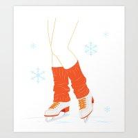 Ice Skates Art Print