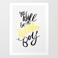 Wonder Boy Art Print