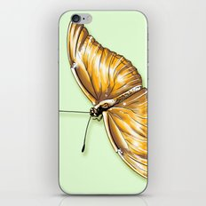 Papillon jaune iPhone & iPod Skin