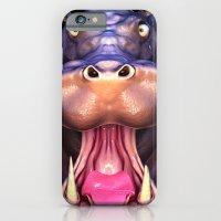 Animal Portraits - Hippo… iPhone 6 Slim Case
