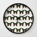 Madagascan Sunset Moths Wall Clock
