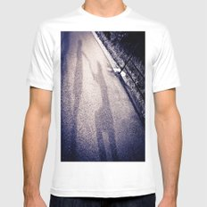 Shadow Proposal White Mens Fitted Tee SMALL