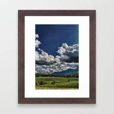 Cutting in the Valley Framed Art Print
