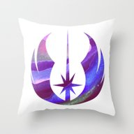 Throw Pillow featuring Star Wars Jedi Symbol In… by Foreverwars