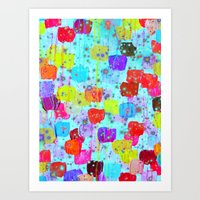 SPECKLE ME DOTTY - Brigh… Art Print