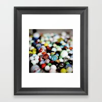 I Lost My Marbles Framed Art Print