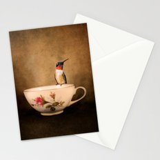 Tea Time With A Hummingbird 2 Stationery Cards