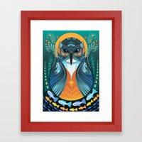The Nesting Fisher King Framed Art Print