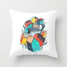 Tumble Town  Throw Pillow
