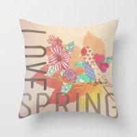 LOVE SPRING Throw Pillow