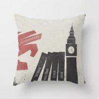 V for Vendetta, Alternative Movie Poster Throw Pillow