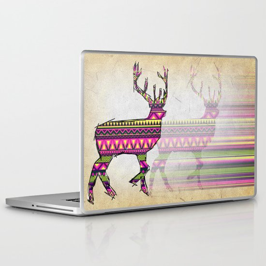 Deer Navajos pattern Laptop & iPad Skin
