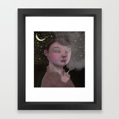 To Young to Smoke Framed Art Print