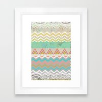 Chevron Framed Art Print