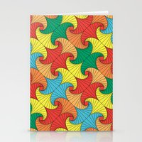 Dancing Squares Stationery Cards