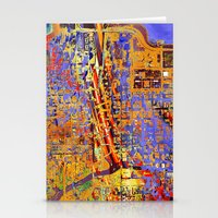 chicago Stationery Cards featuring chicago by donphil