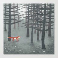 Canvas Print featuring The Fox And The Forest by Nic Squirrell