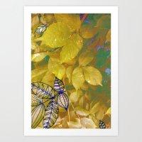 leaves evolved 1 Art Print