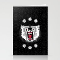 Polar Bear Geometric Stationery Cards
