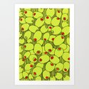 Crazy about olives Art Print