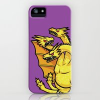 iPhone 5s & iPhone 5 Cases featuring King Ghidorah by lisanaffziger