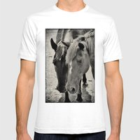 Two Horses Mens Fitted Tee White SMALL