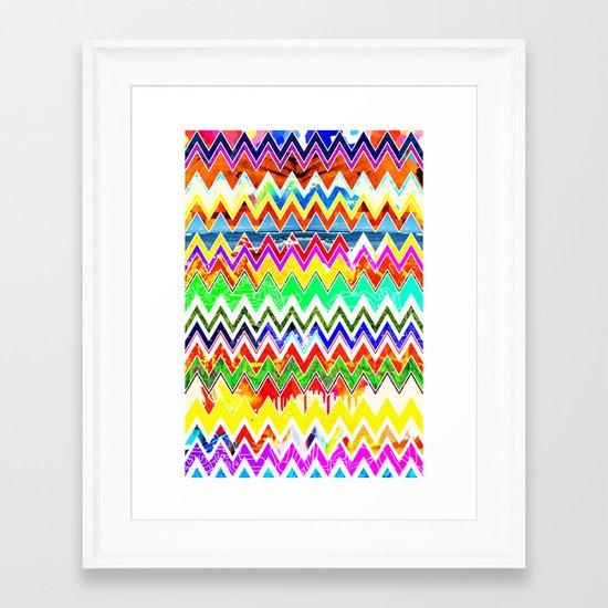 Waves of Colour Framed Art Print