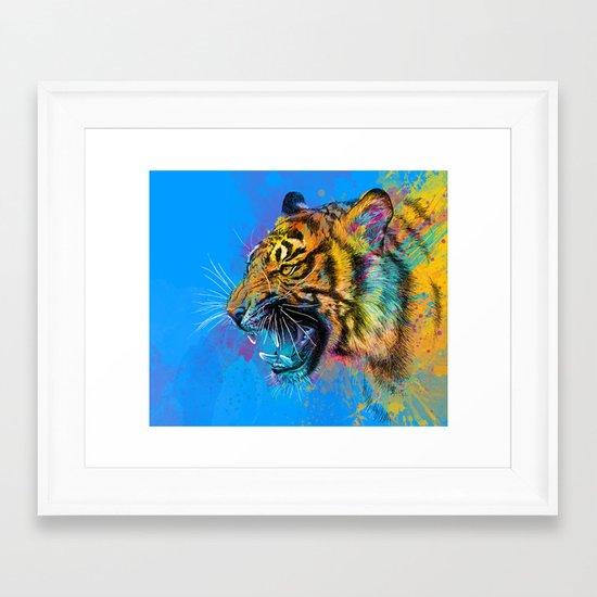 Angry Tiger Framed Art Print