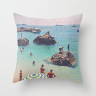Let's Jump Off The Rocks Throw Pillow