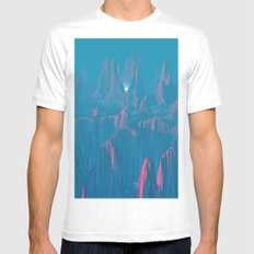 Neon Waterfalls SMALL White Mens Fitted Tee