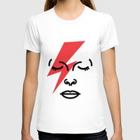 Bye Ziggy Stardust Womens Fitted Tee White SMALL