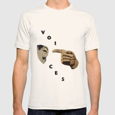 Voices Mens Fitted Tee Natural SMALL
