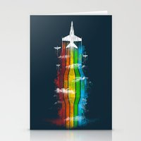 Colored Flight Stationery Cards