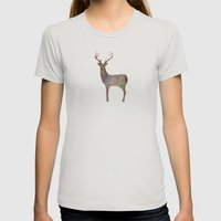 deer color Womens Fitted Tee Silver SMALL