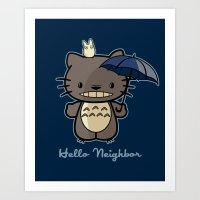 Hello Neighbor Art Print