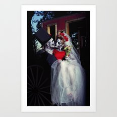 Day Of The Dead Wedding Day  Art Print