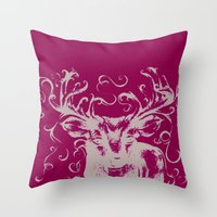 Throw Pillow featuring Deer Color by Mary Mohr