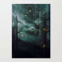 In The Woods Tonight Canvas Print