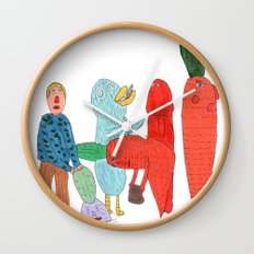Friends and the garden. Wall Clock