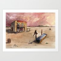 The Lone Saloon Art Print