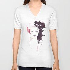 Fashion illustration in watercolors Unisex V-Neck
