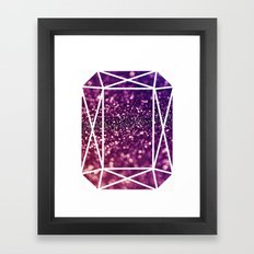Glitter Gem Framed Art Print