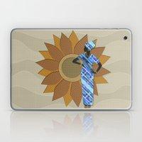 Sunflower Lady Laptop & iPad Skin