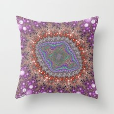 Fractal Lozenge Throw Pillow