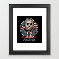 Jason For President Framed Art Print