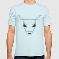 Deer Mens Fitted Tee Light Blue SMALL