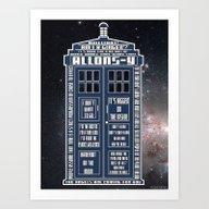 Art Print featuring Doctor Who - Tardis Typo… by ZeebraPrint