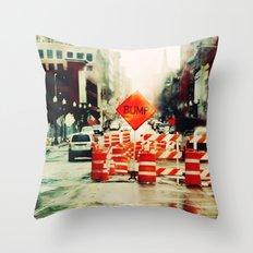b u m p . Throw Pillow